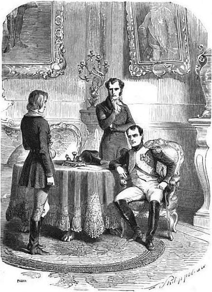 Napoleon interrogates his would-be assassin Friedrich Staps