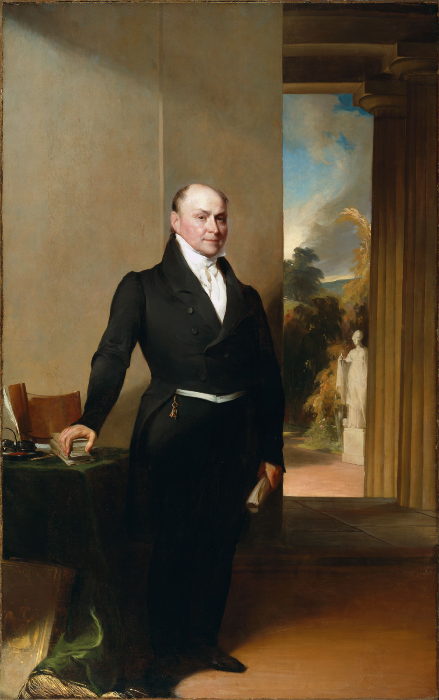 The John Quincy Adams Portrait By Gilbert Stuart Amp Thomas