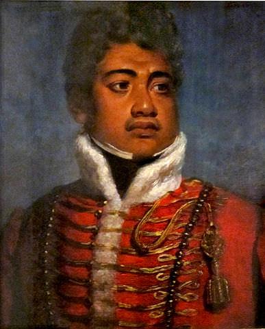 King Kamehameha II of the Sandwich Islands (Hawaii) attributed to John Hayter, 1824