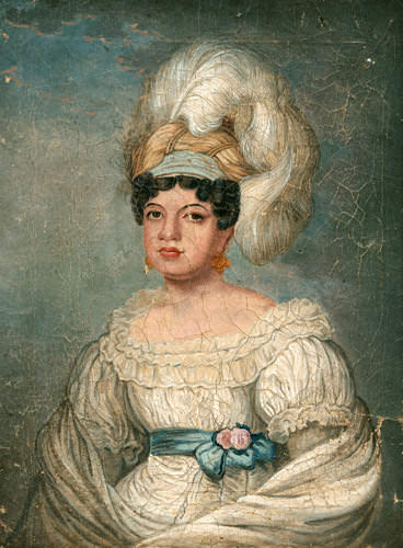 Queen Kamamalu, portrait based on an 1824 lithograph by John Hayter