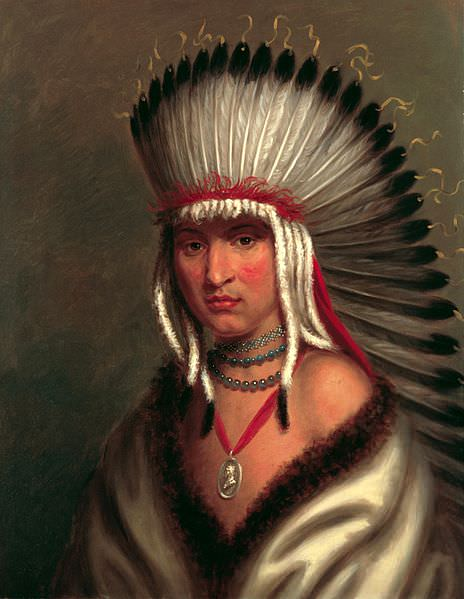 Petalesharo (Generous Chief), a Pawnee Brave, by Charles Bird King, 1822