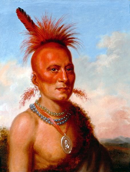Sharitahrish (Wicked Chief) by Charles Bird King, 1822