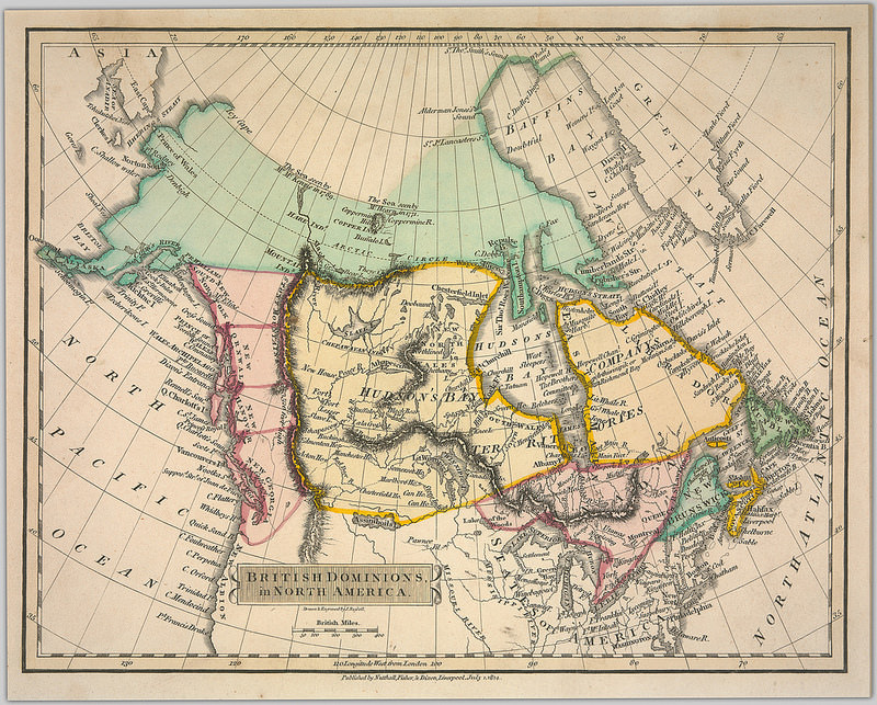 British Dominions in North America by J. (John) Russell, 1814. Source: University of British Columbia Library. Rare Books and Special Collections. Andrew McCormick Maps and Prints