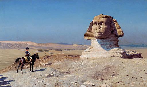 Bonaparte Before The Sphinx by Jean-Léon Gérôme, 1867-68