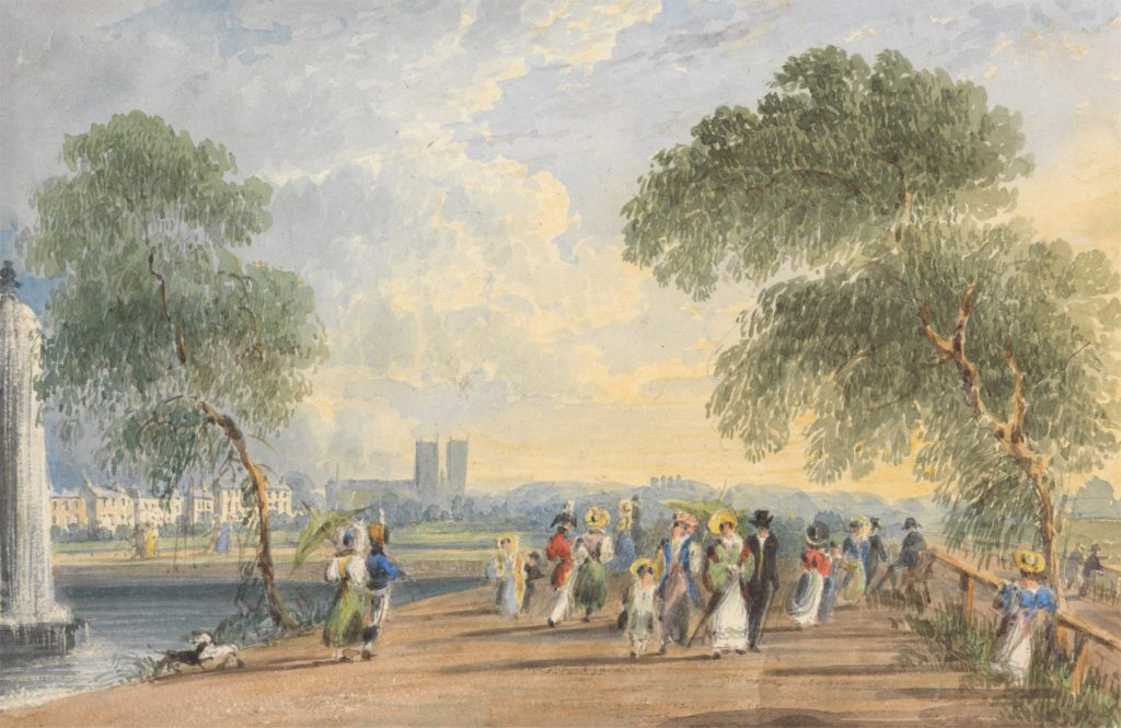 Green Park, London, by George Sidney Shepherd, circa 1830