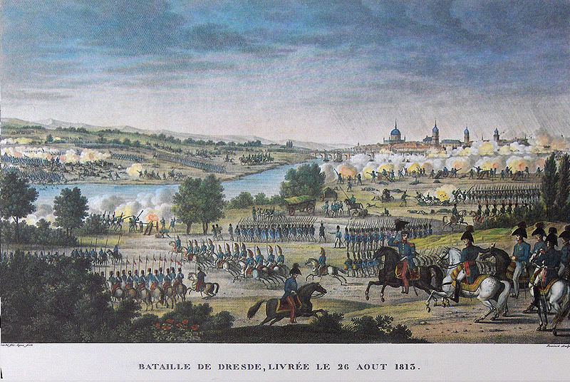 Battle of Dresden, 26 August 1813, by Carle Vernet and Jacques François Swebach