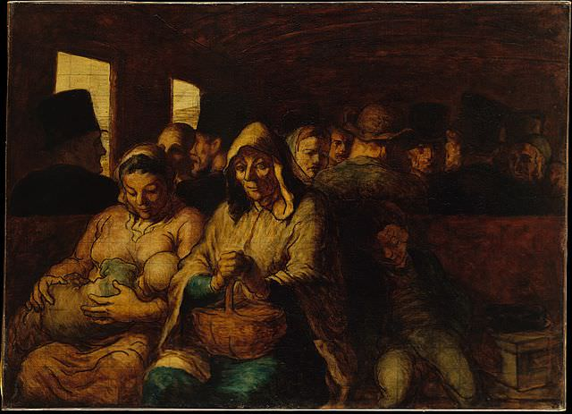 Honoré Daumier, The Third-Class Carriage, circa 1862-64. Source: Metropolitan Museum of Art, H. O. Havemeyer Collection, Bequest of Mrs. H. O. Havemeyer, 1929