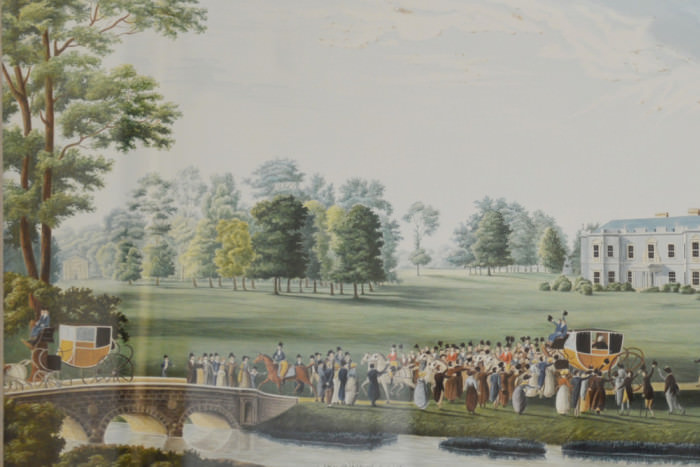 Louis XVIII, King of France, leaving Hartwell House, 1814