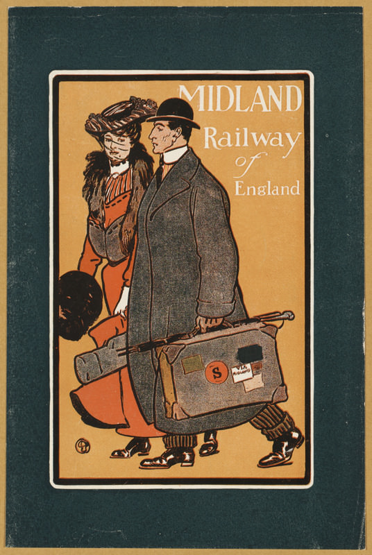 Midland Railway of England poster by Edward Penfield, circa 1890-1920. Source: Boston Public Library