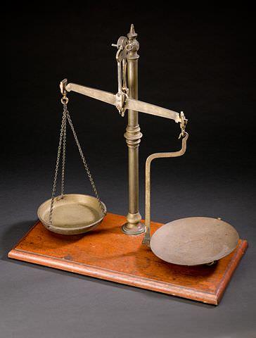 An apothecary's balance