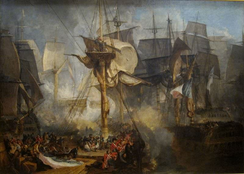 The Battle of Trafalgar by J.M.W. Turner, 1806