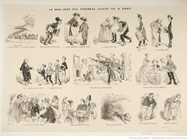 Le beau jour des étrennes by Gustave Doré, 1848. Source: Bibliothèque nationale de France