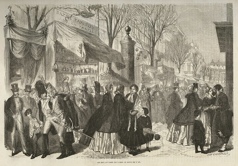 New Year's Day in Paris by Just L'Hernault, 1862