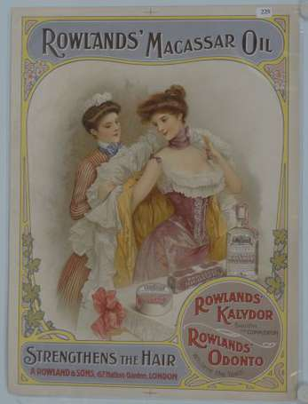 Rowlands Macassar Oil, one of many 19th century Christmas gift ideas