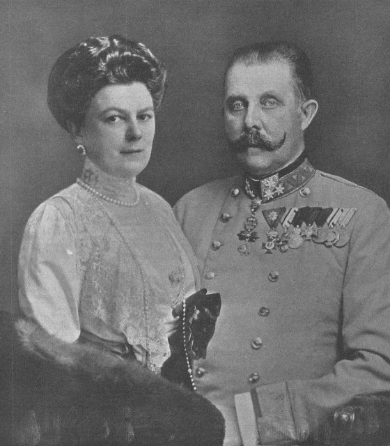 Archduke Franz Ferdinand of Austria and Sophie, Duchess of Hohenberg, had a morganatic marriage