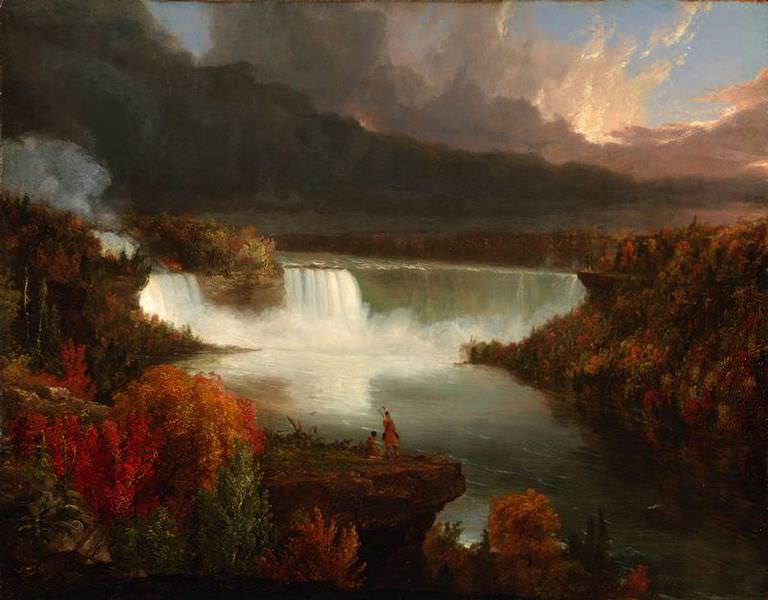 Distant View of Niagara Falls by Thomas Cole, 1830
