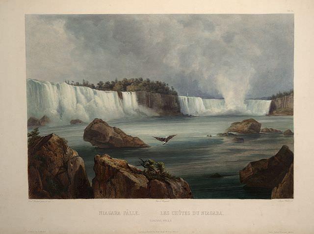 Niagara Falls by Karl Bodmer, 1839