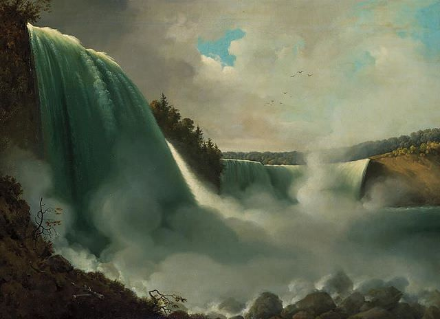 Niagara Falls from the American Side by John Vanderlyn, 1801-1803