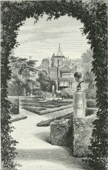 Bust of Napoleon in the garden at Holland House