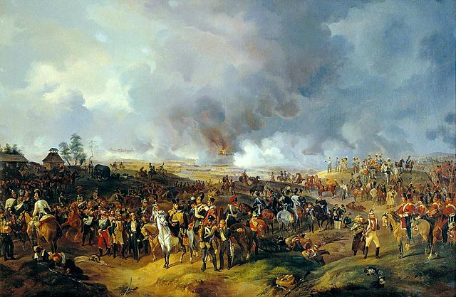 The Battle of Leipzig, by Alexander Sauerweid, 1844