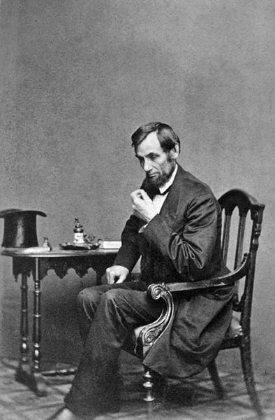 Lincoln sat here.