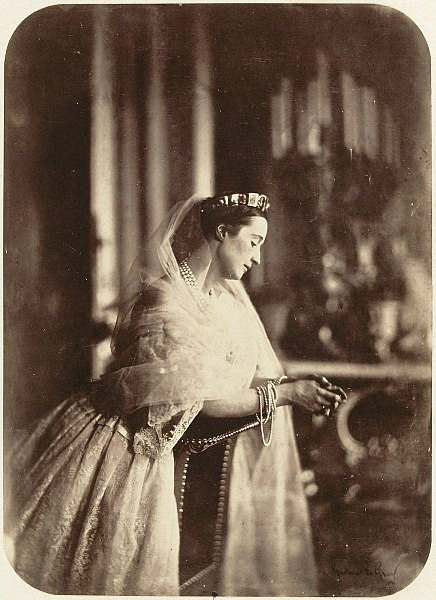 Eugénie, Empress of the French, photographed by Gustave Le Gray in 1856 when she was 30