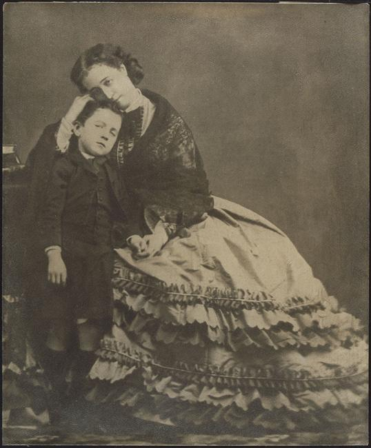 Empress Eugénie and her son, the Prince Imperial, in 1862