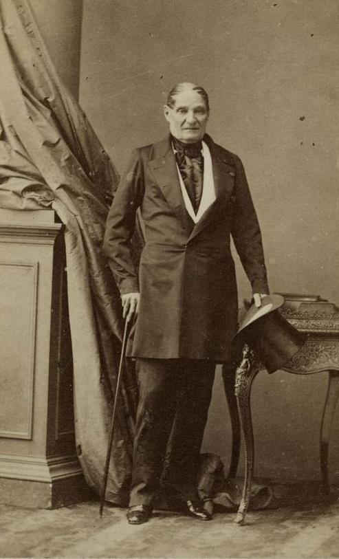 Jérôme Bonaparte circa 1852, age 68, photographed by André-Adolphe-Eugène Disdéri