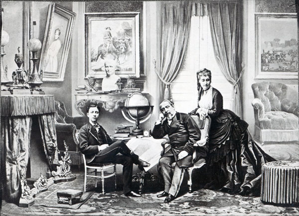 Napoleon III and his family in exile in England in 1872, by W&D Downey