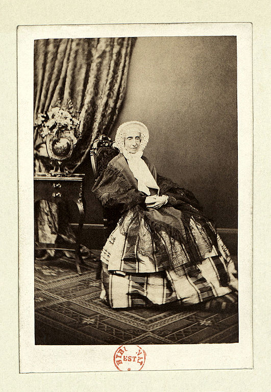 Marie-Amélie, photographed in the 1860s by Antoine Claudet when she was in her 80s