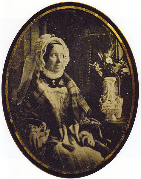 Daguerreotype of Marie Louise, Duchess of Parma, in 1847, age 56
