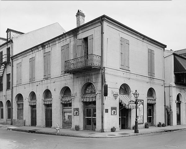 An illustration of the lack of historical accuracy of place. The building at 440 Chartres Street, New Orleans, generally known as Maspero's Exchange, never actually housed Maspero's Exchange.