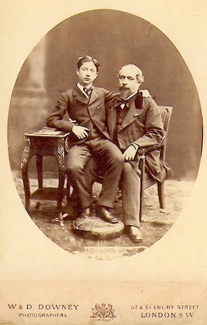 The Prince Imperial with his father Napoleon III in 1872
