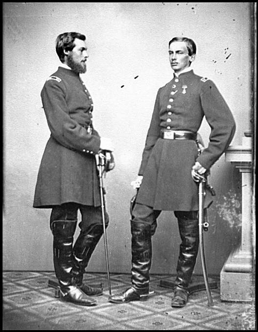 Philippe d'Orléans and his brother Robert as officers of the Union Army in 1861-62