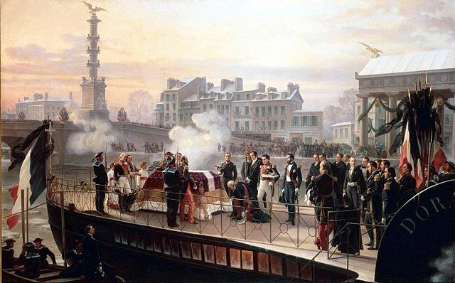 The arrival of Napoleon's remains at Courbevoie, by Henri-Félix-Emmanuel Philippoteaux