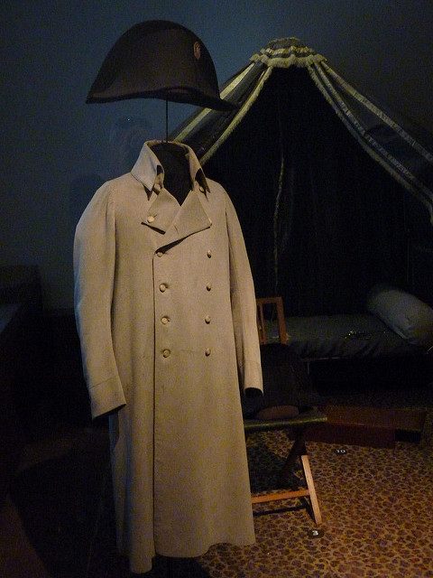 Napoleon's hat and greatcoat at the Musée de l'Armée in Paris, photographed by Damian Entwistle