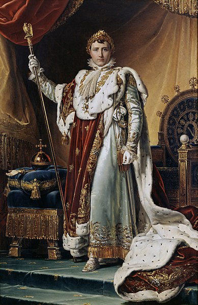 Napoleon in his coronation robes by François Gérard, 1805