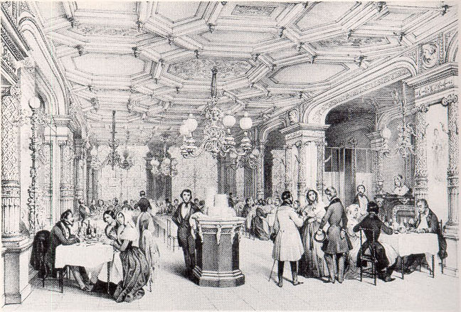 A Parisian restaurant in the 1840s