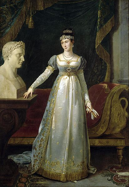 Pauline Bonaparte, by Robert Lefèvre, 1806. She still looked much the same on Elba.