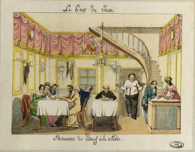Restaurant du Boeuf à la Mode, Le Goût du jour, 1825. Source: Bibliothèque nationale de France