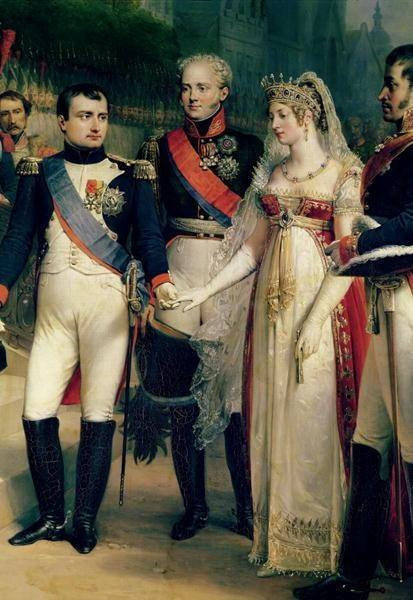 Napoleon with Queen Louise of Prussia at Tilsit, July 6, 1807. Napoleon's view of women who defied his expectations was dim. Detail of painting by Nicolas Louis Gosse