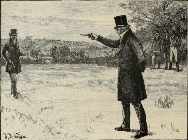 The duel between the Duke of Wellington and the Earl of Winchilsea, 1829. One of the Duke of Wellington's shooting adventures.