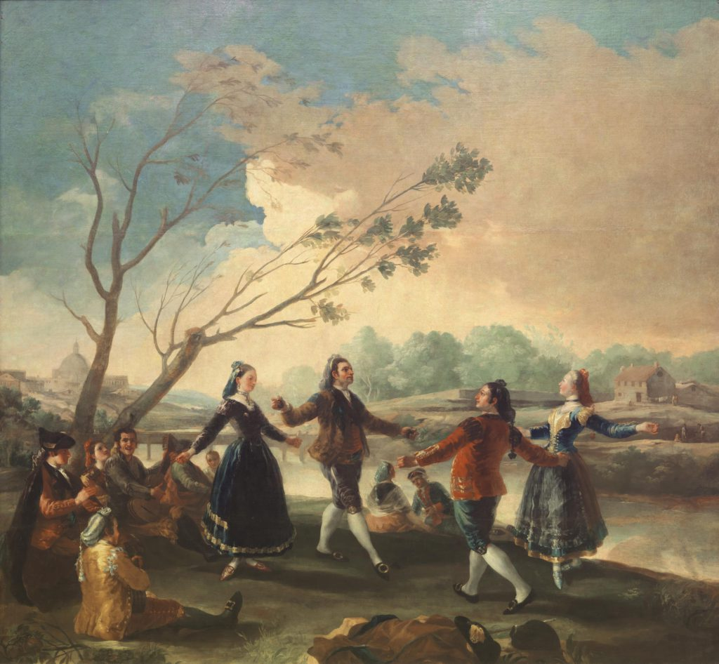 Dance of the Majos at the Banks of Manzanares, by Francisco Goya, 1777