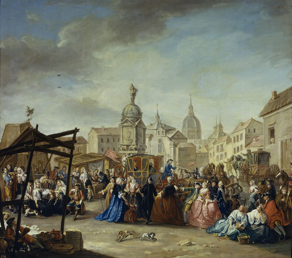 Madrid Fair in Plaza de la Cebada, by Manuel de la Cruz Vázquez
