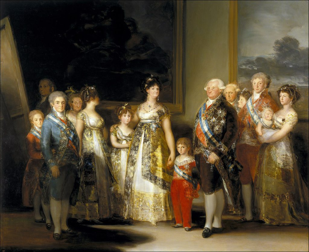 Charles IV of Spain and His Family, by Francisco Goya, 1800