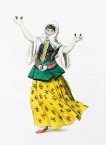 A female dancer at Constantinople, by Octavien Dalvimart