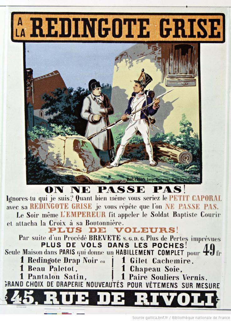 Napoleon coat ad