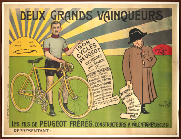 Napoleon bicycle advertisement