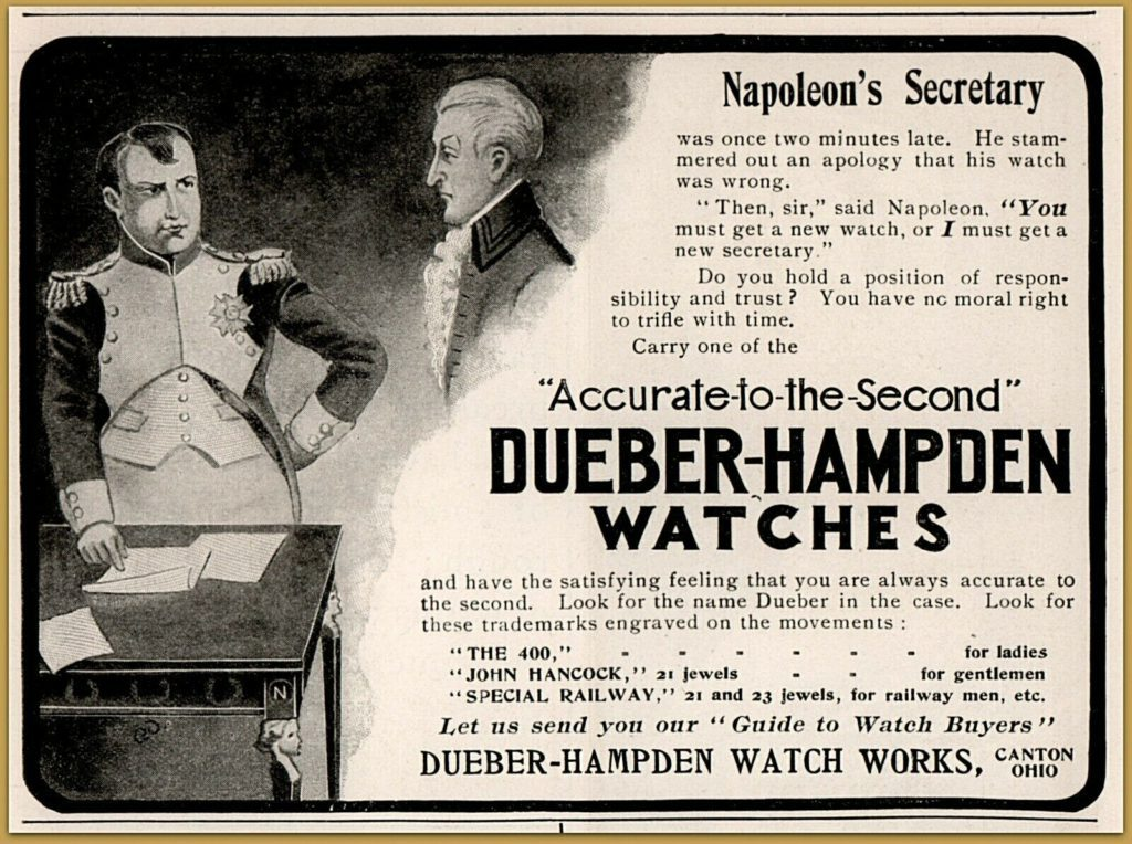 Napoleon watch advertisement