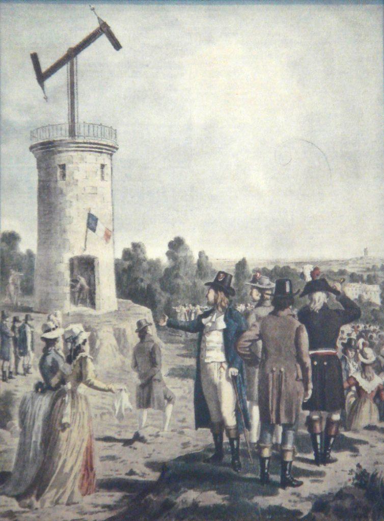 Chappe semaphore telegraph demonstration